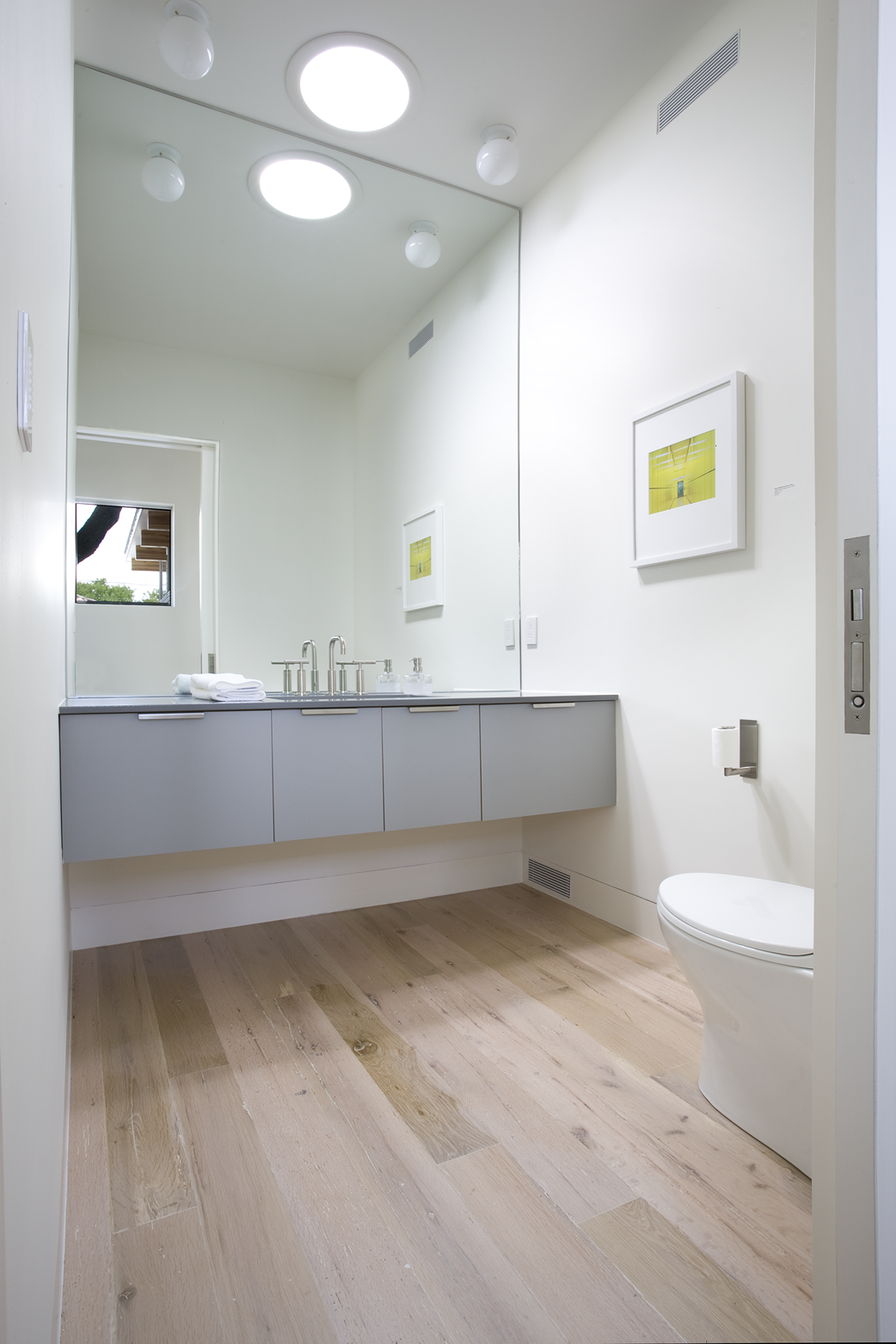 Reclaimed White Oak Hardwood Flooring Bathroom Newlifehardwoods Com