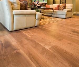 Hardwood floor from reclaimed Pecan Timbers